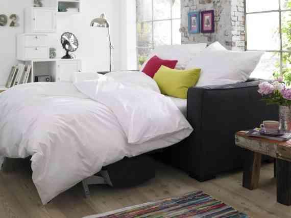elegir un sofá cama car mobel sofa cama negro abierto