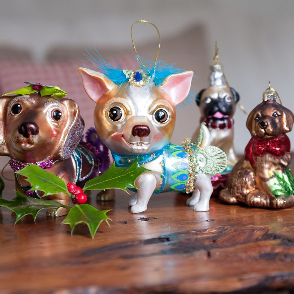 decoraciones originales de Navidad Christmas Decoration Dog