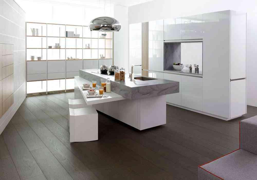 decorar ambientes de estilo minimalista cocina porcelanosa - Decoracion Minimalista