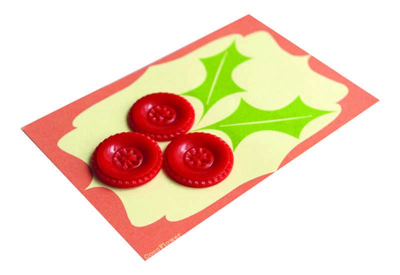 decorar postales de Navidad DaWanda botones