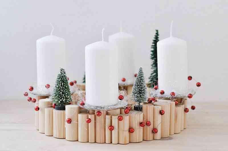 decoración con velas de Navidad dawanda portavelas apertura