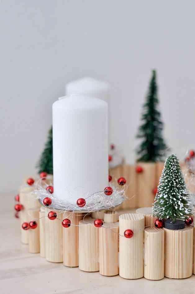 decoración con velas de Navidad dawanda portavelas detalle