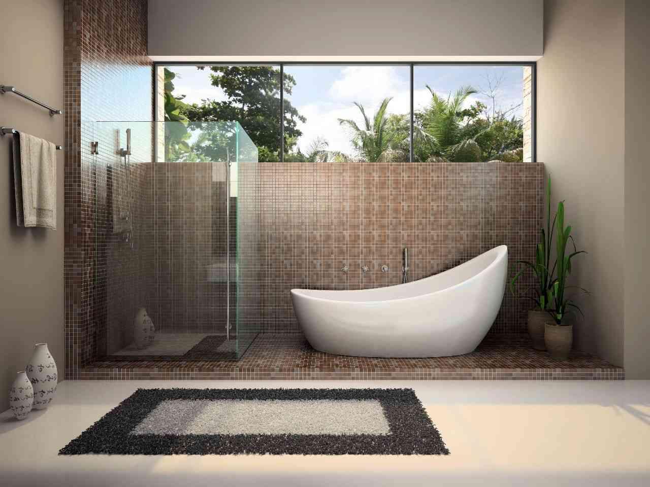 decoracion baño elementos naturales