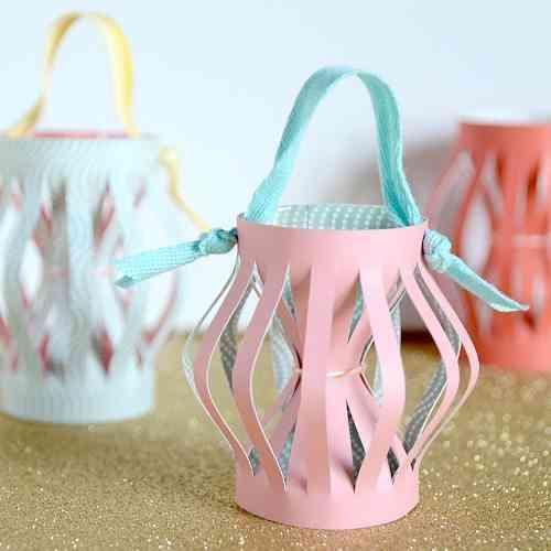 Decoracion de navidad - farolillos de papel - DIY 1