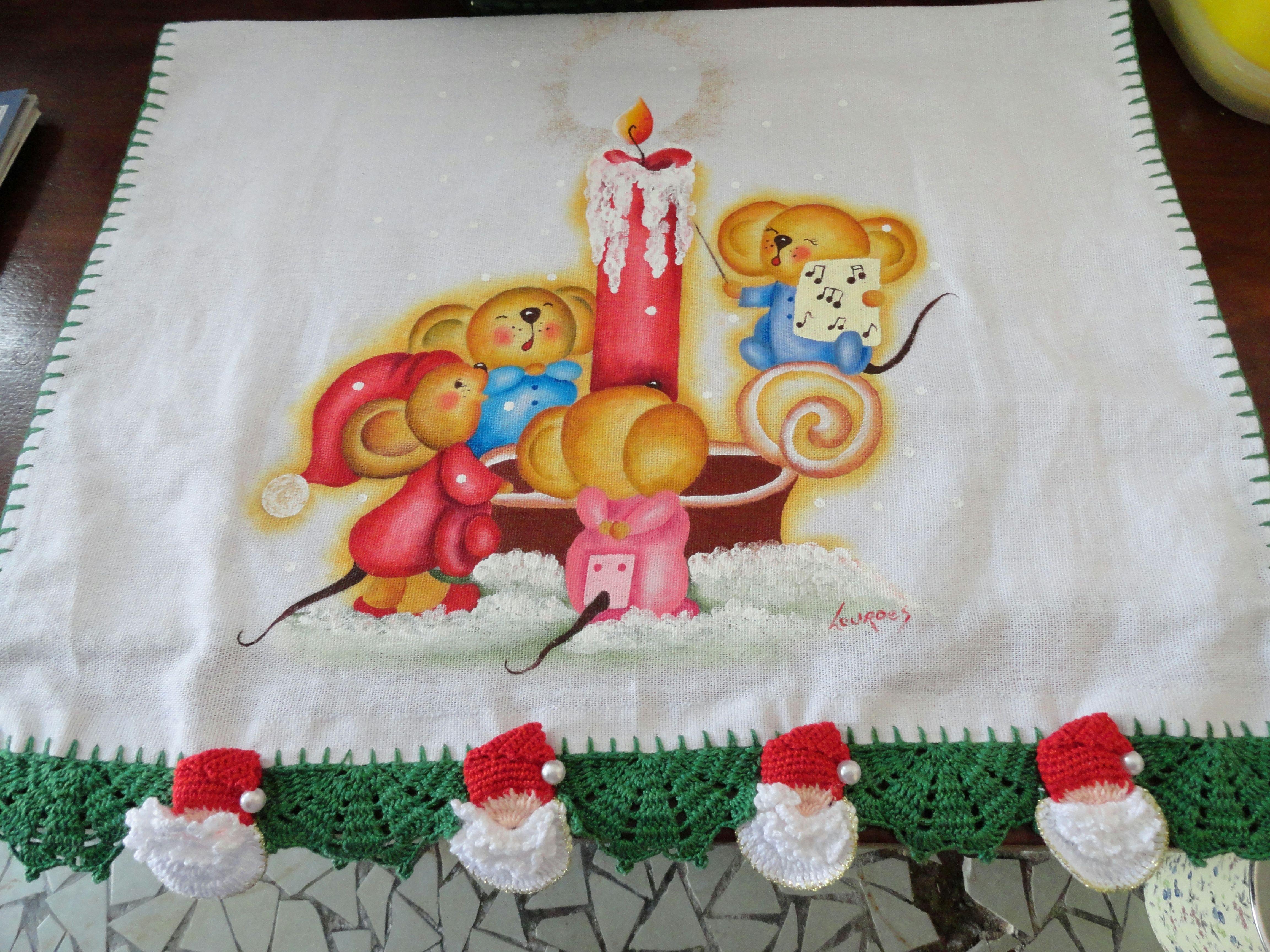 paño con un dibujo navideño