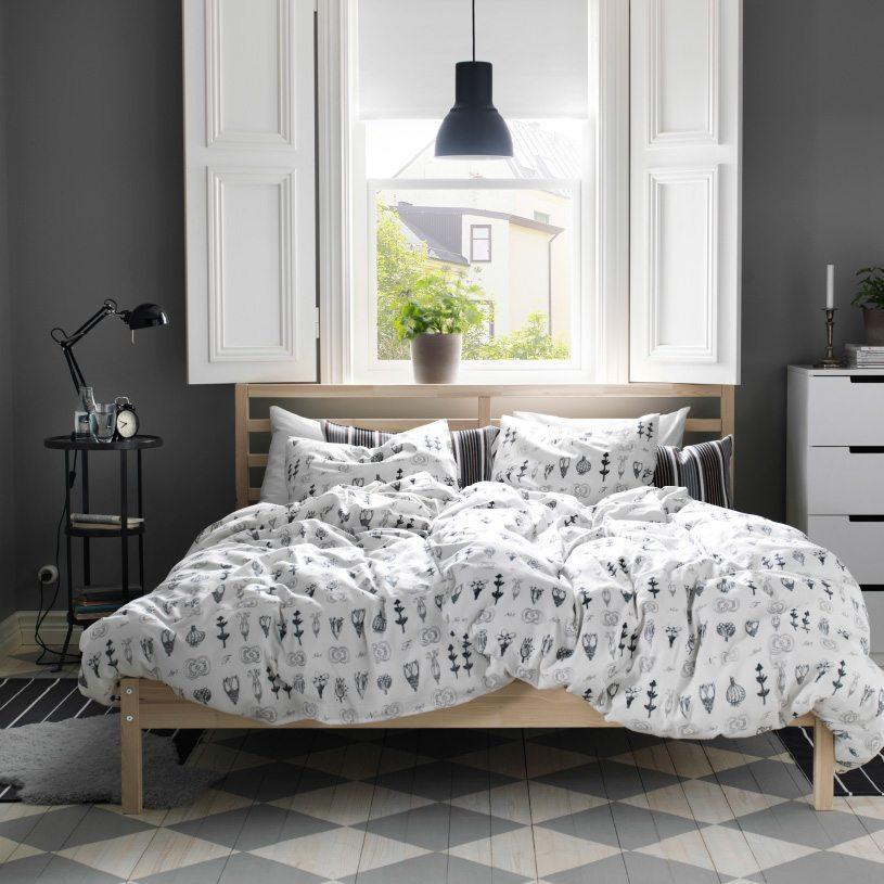 dormitorio en gris IKEA