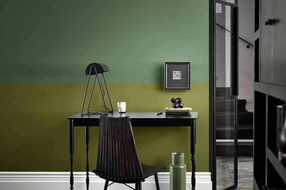pintar las paredes dos tonos verdes