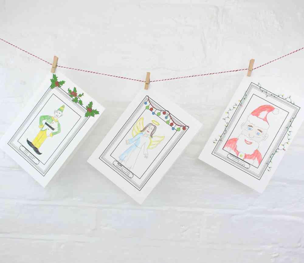 decorar postales de Navidad EllieEllie tarjetas