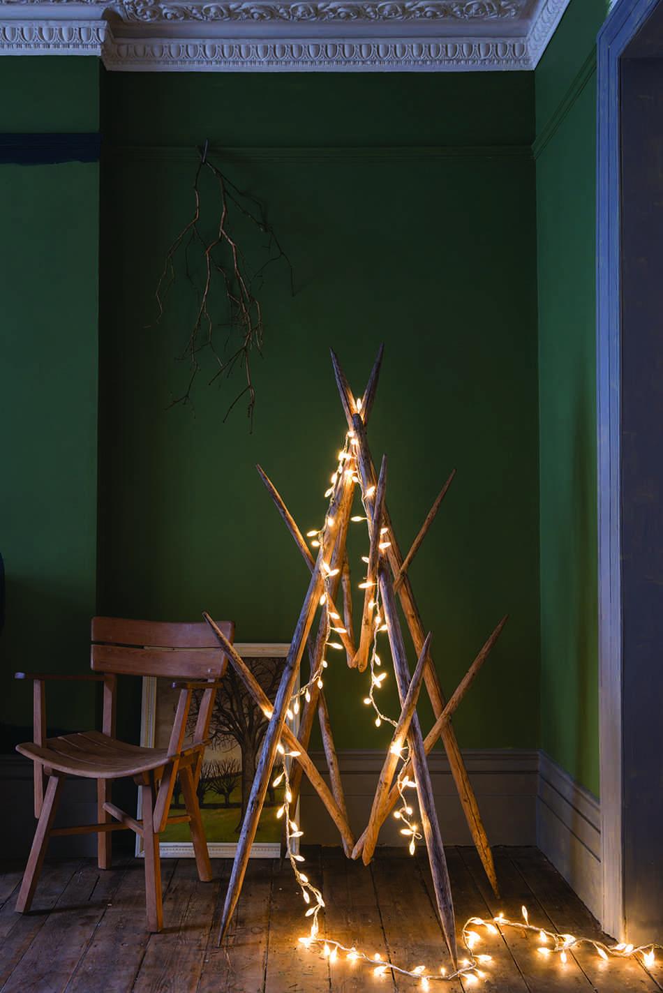 decoraciones originales de Navidad FarrowBall arbol
