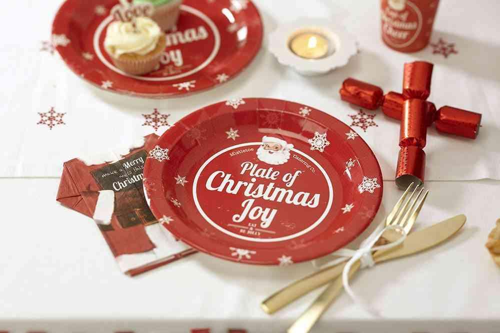vajilla de Navidad GingerRay platos usar y tirar