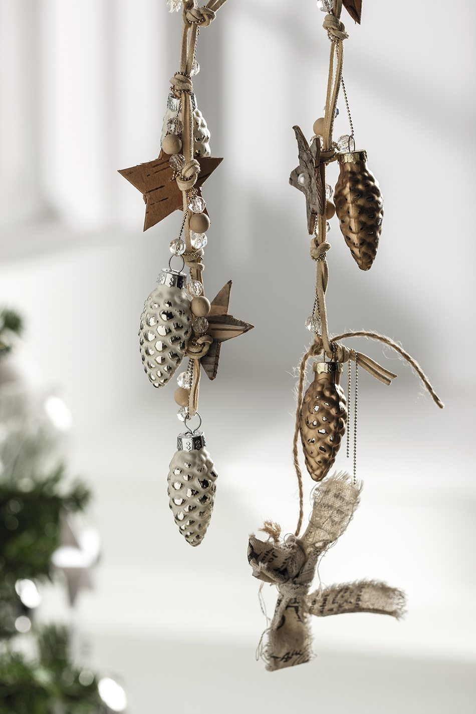 tendencias de decoración navideña guirnalda pina lm