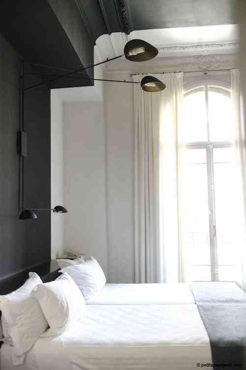 pintar paredes de forma original - Habitación Blanco y Negro