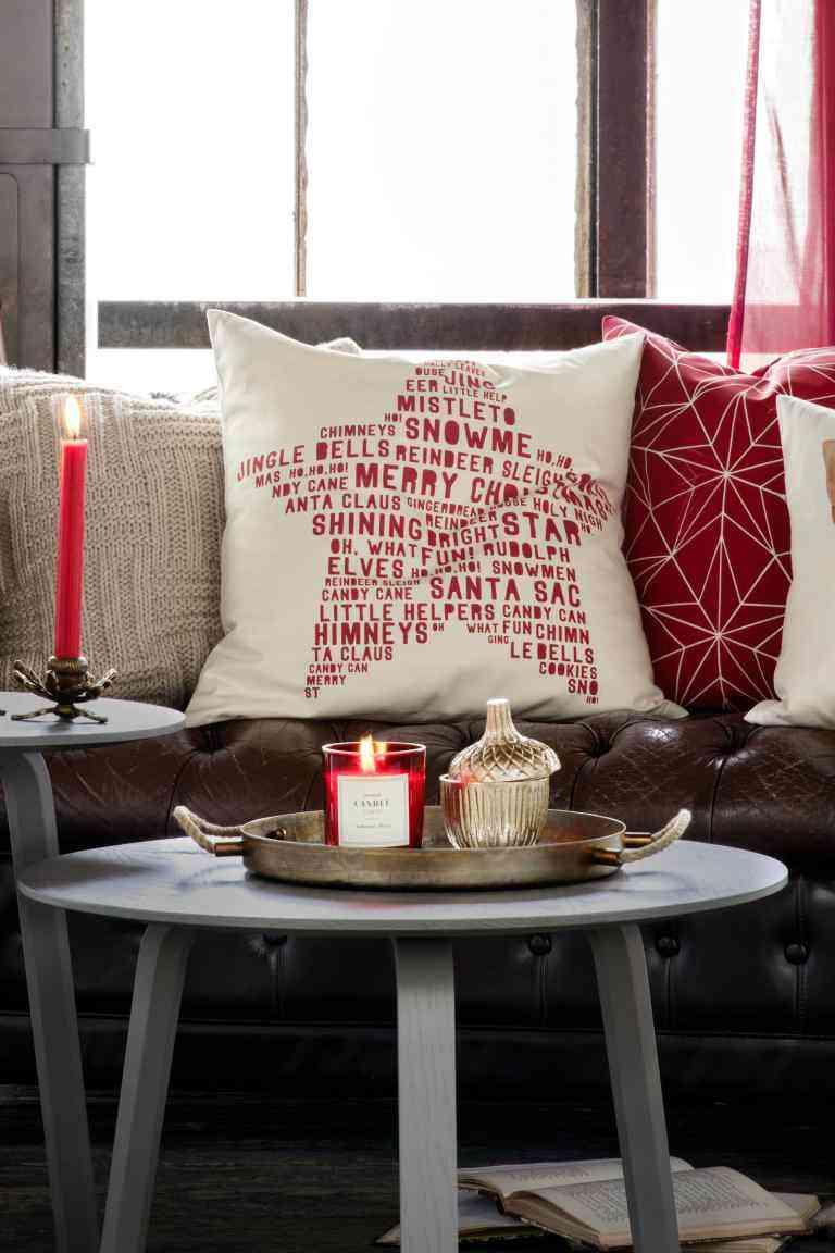 decoración con velas de Navidad hm velas bandeja