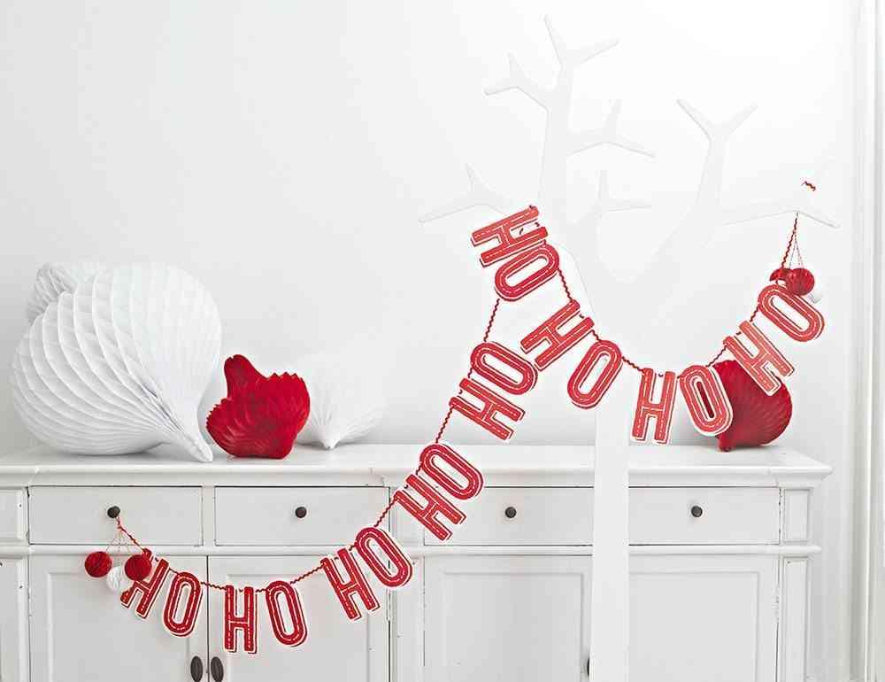 decoraciones originales de Navidad Ho Ho Ho guirnalda