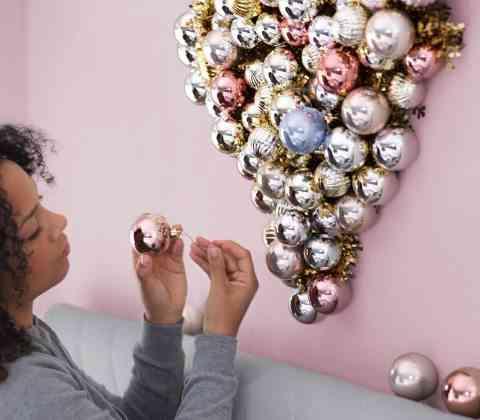 decoración de Navidad en Ikea ikea bolas pared