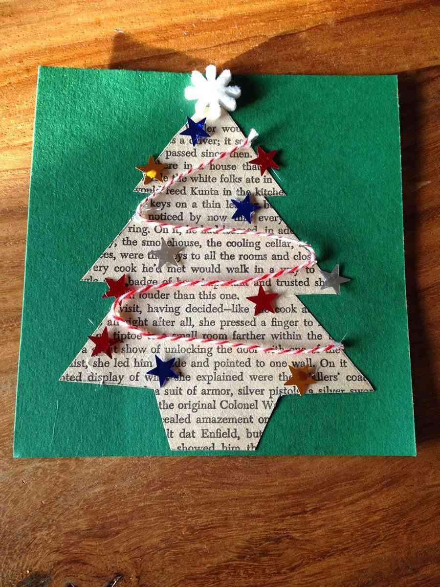 decorar postales de Navidad lingo arbol