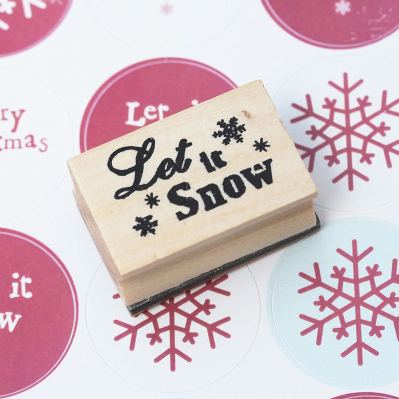 decorar postales de Navidad LuckLuck let it snow