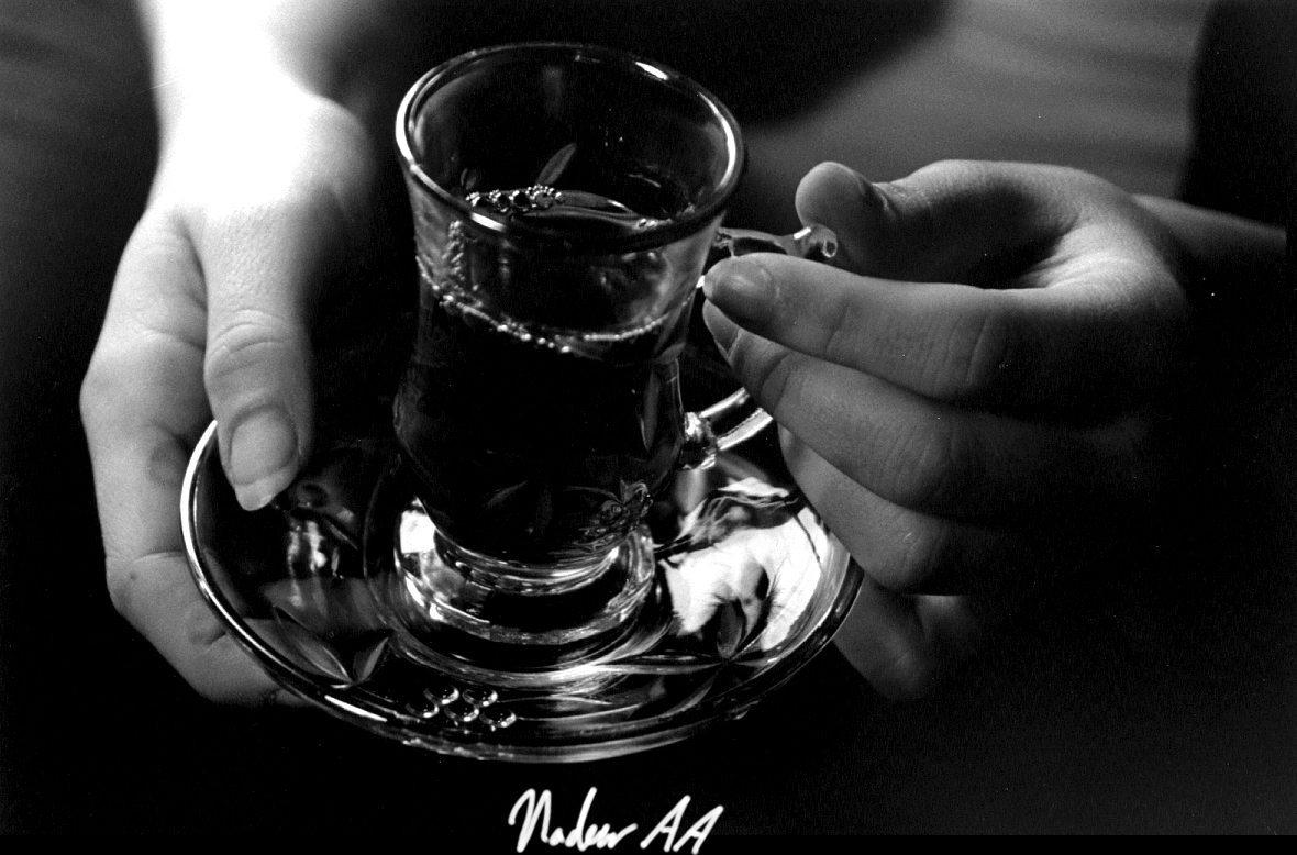 taza de té árabe
