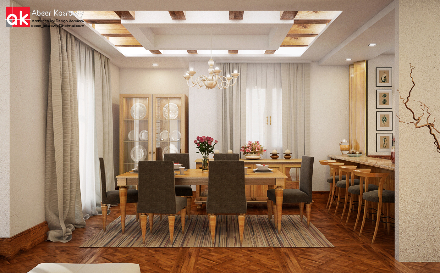 mesa de comedor con sillas grises