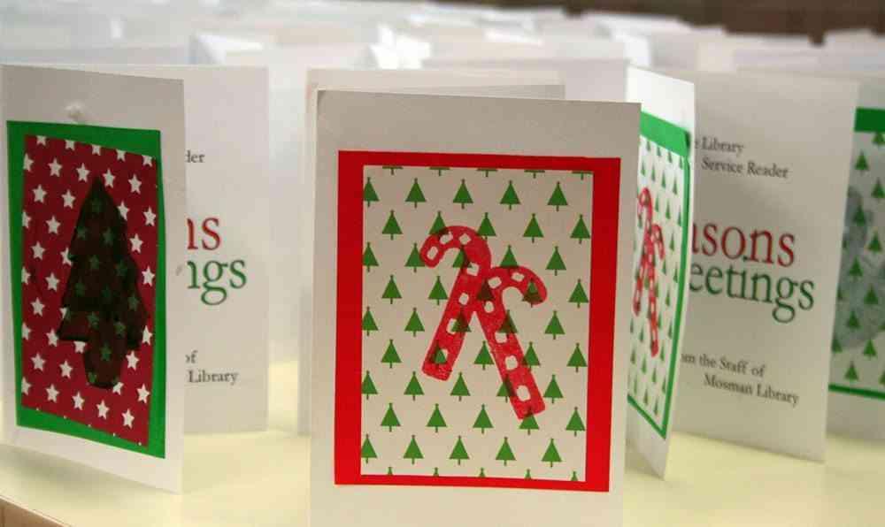 decorar postales de Navidad mosman library
