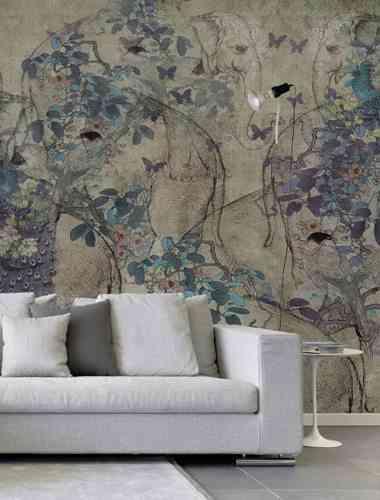 mural floral