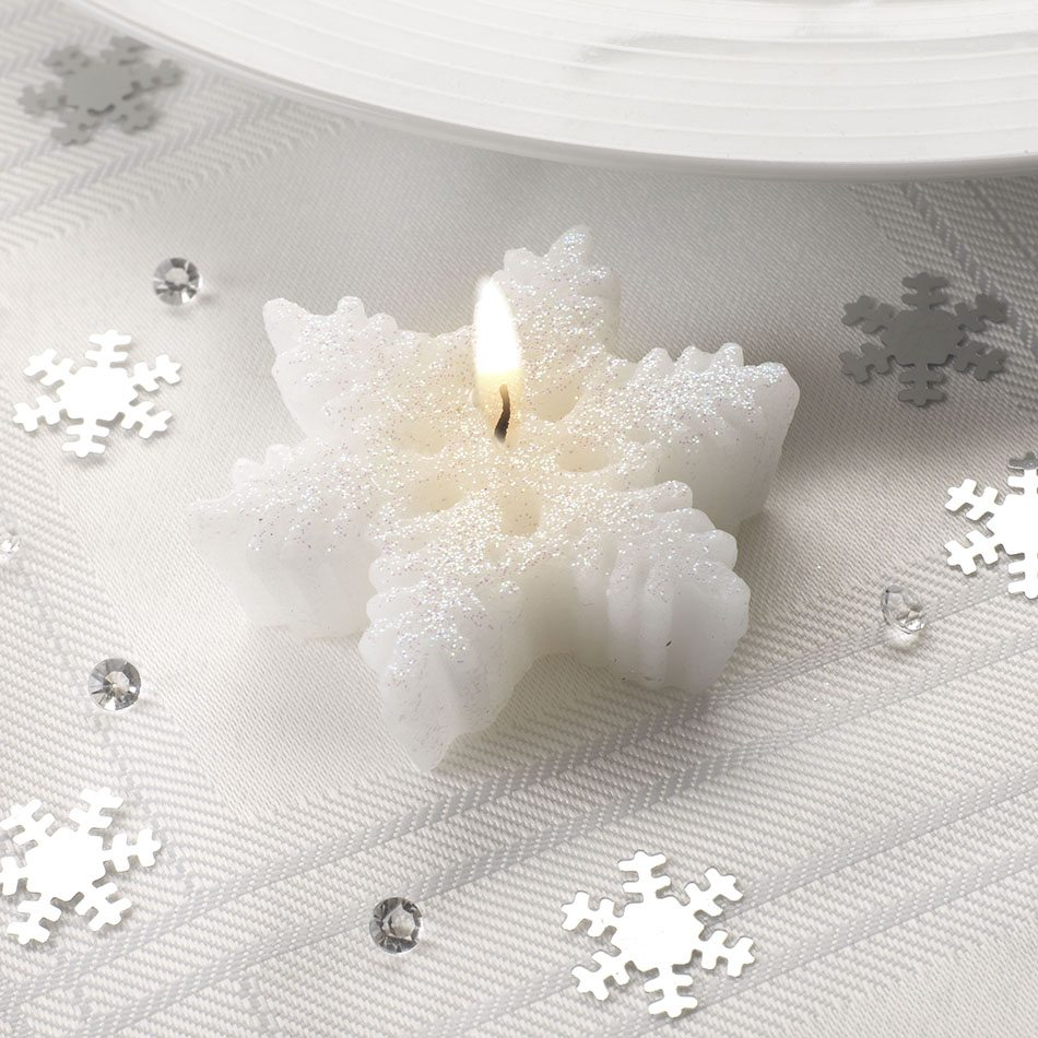 decoración con velas de Navidad Neviti vela mesa