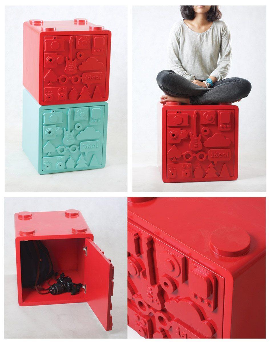 cajas de almacenamiento con puerta