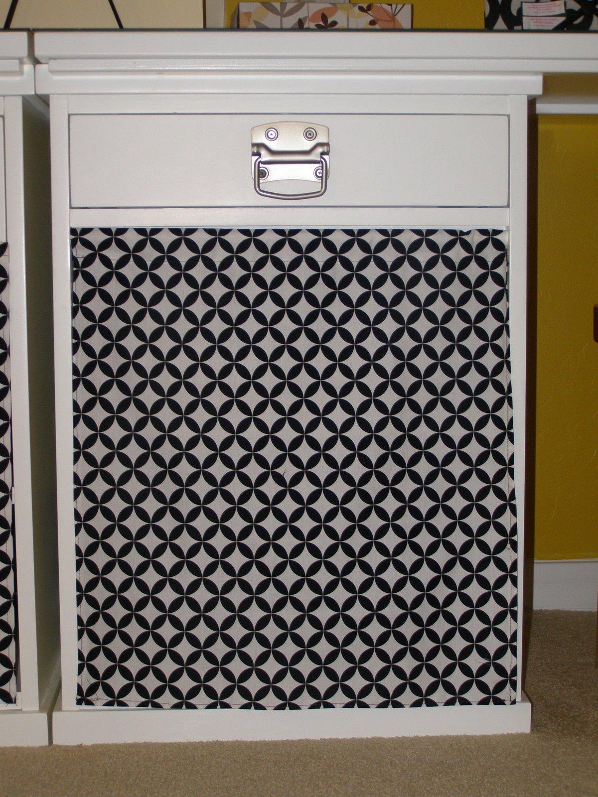 armario decorado con tela