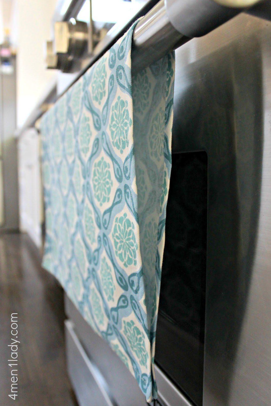 un paño de cocina con velcro por dentro