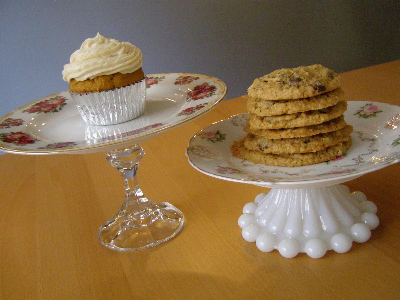 bandeja para cupcakes y galletas hechas a mano