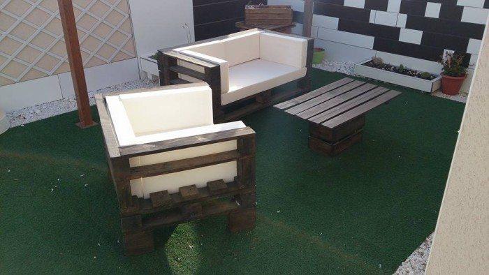 conjunto de mesa y silla de exterior