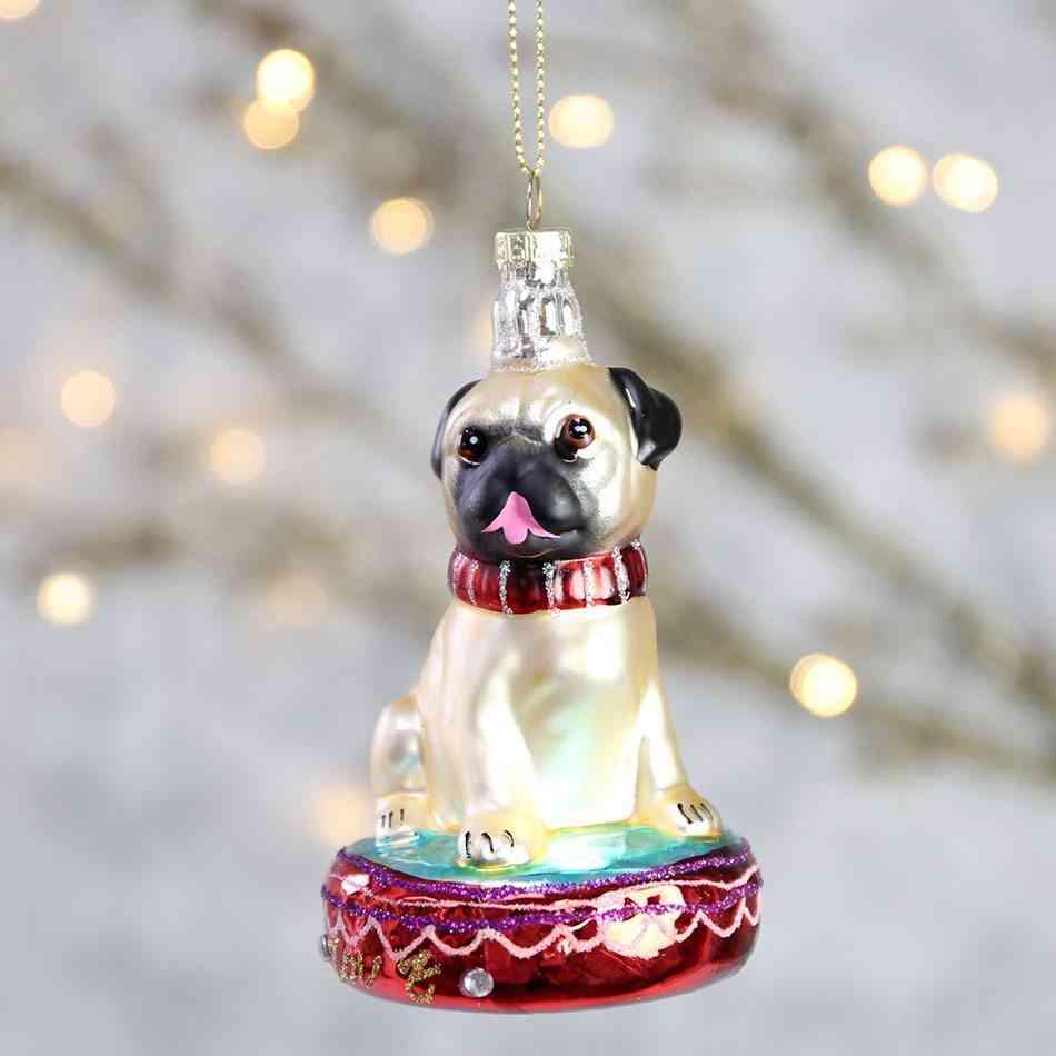 decoraciones originales de Navidad perro para arbol