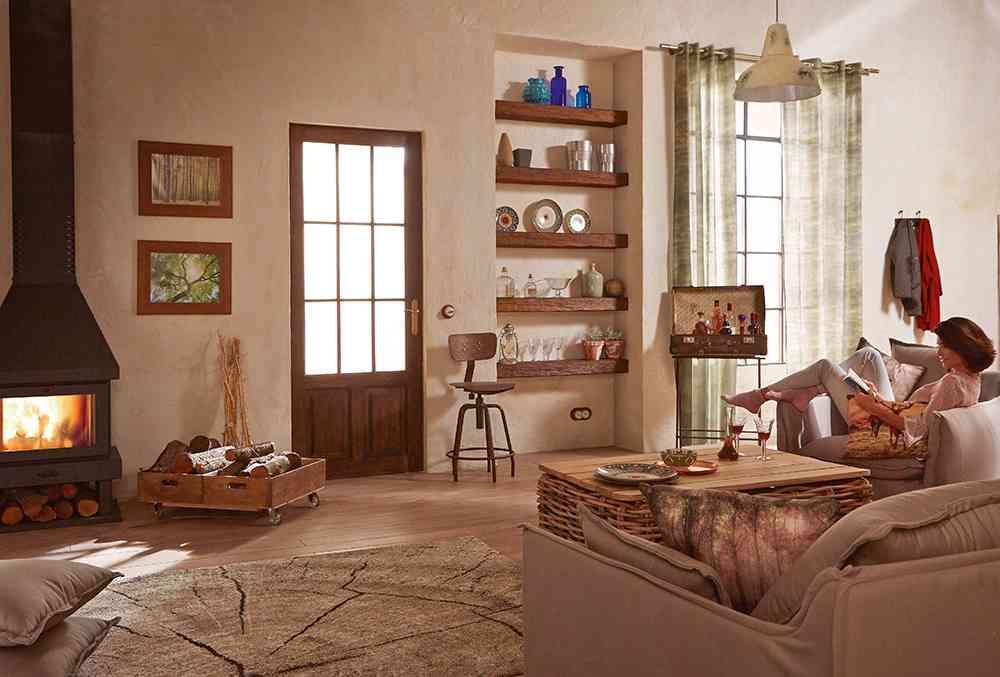 C mo conseguir una decoraci n campera para tu casa - Colores para pintar un salon rustico ...