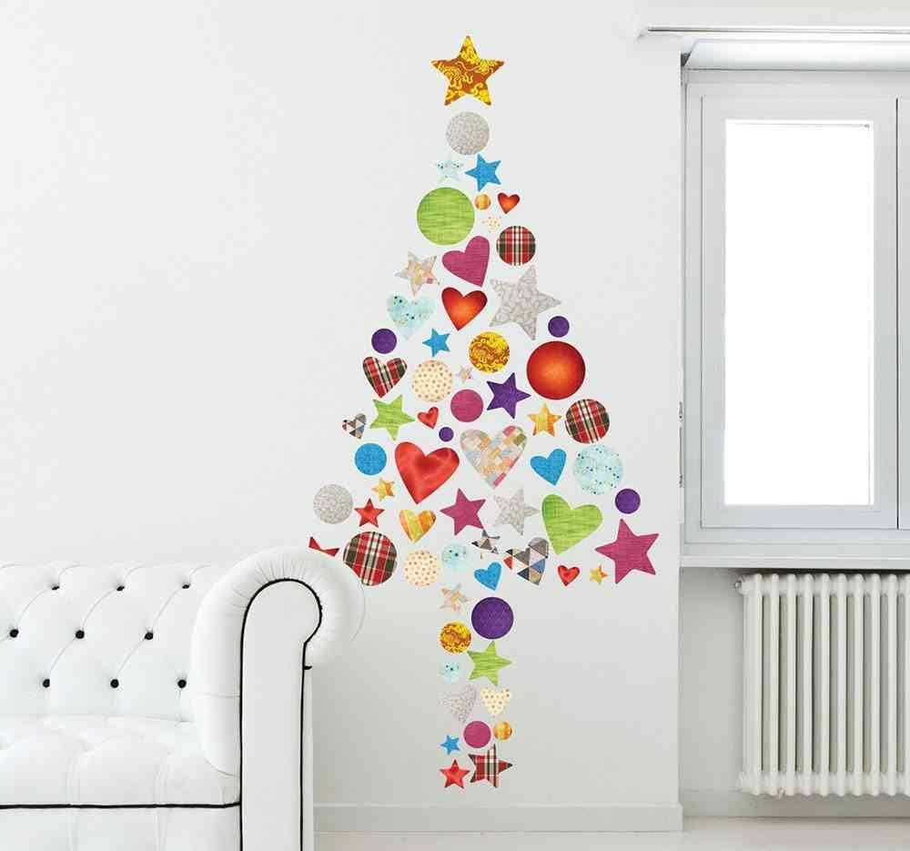 Vinilos decorativos navideños tenvinilo arbol colores