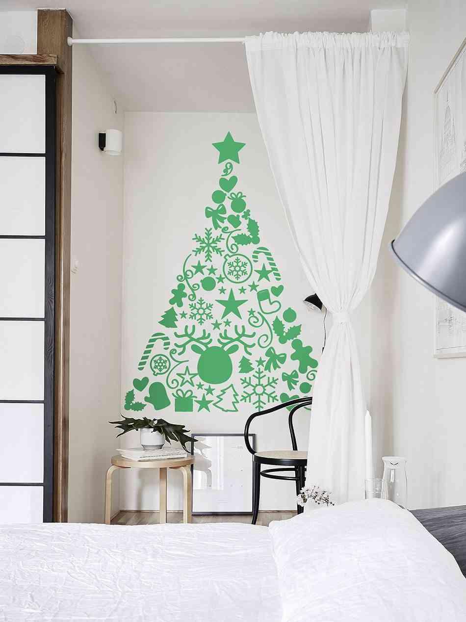 Vinilos decorativos navideños TENVINILO arbol verde