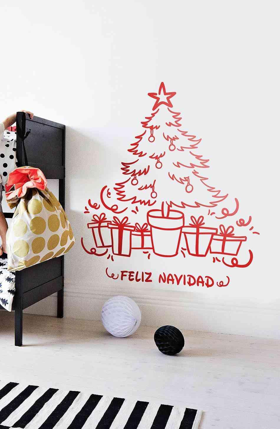 Vinilos decorativos navideños TENVINILO vinilo decoracion arbol navidad