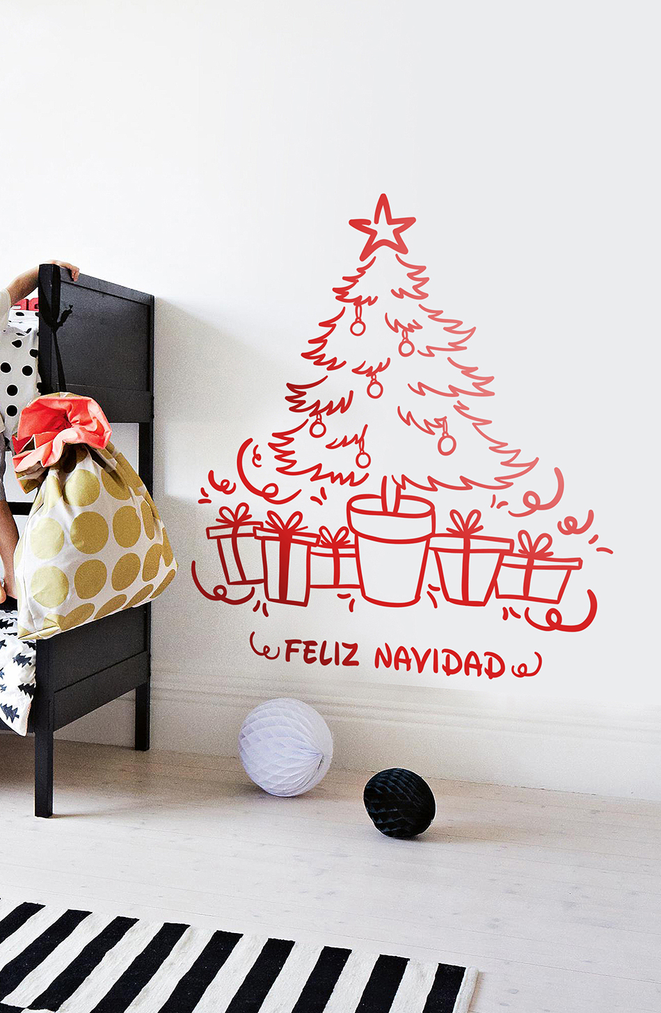 Decora tu casa con vinilos decorativos navide os - Decoracion vinilos salon ...