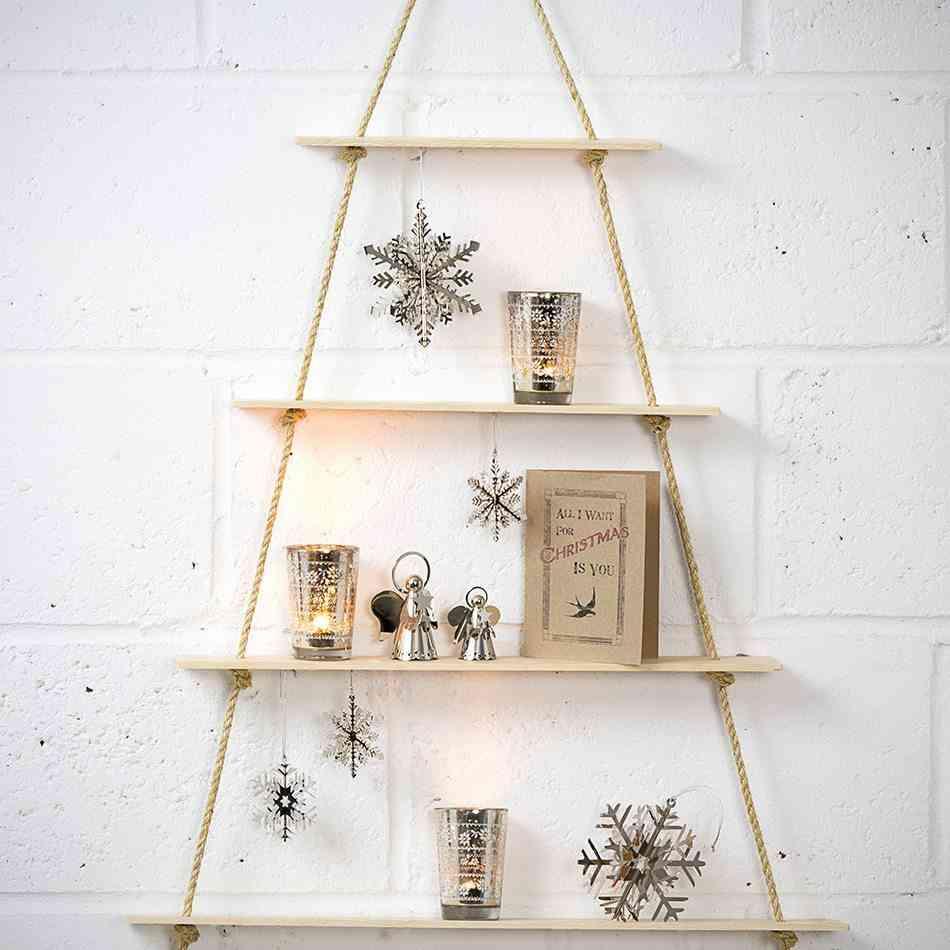Cómo hacer un árbol de Navidad TheContemporaryHome arbol cuerda