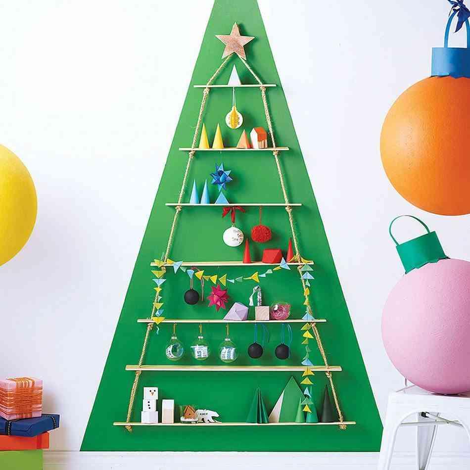 Cómo hacer un árbol de Navidad TheContemporaryHome Rope Ladder ChristmasTree
