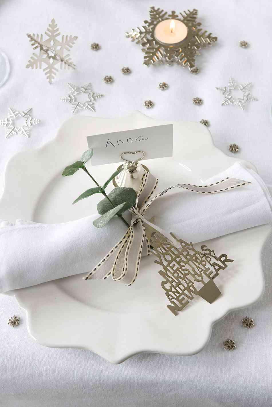 vajilla de Navidad TheContemporaryHomeplato blanco