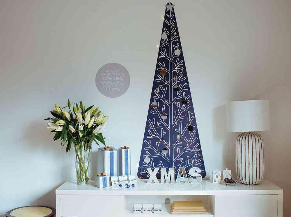 Vinilos decorativos navideños Treekandi arbol negro