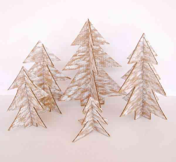arbol de Navidad de cartulina distintos tamanos