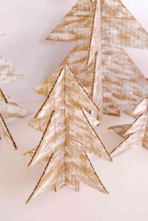 arbol de Navidad de cartulina proper detalle