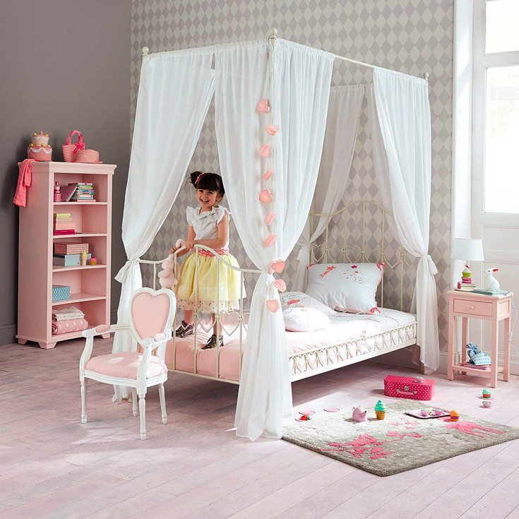 Ideas para decorar un dormitorio rom ntico para ni as for Camerette maison du monde