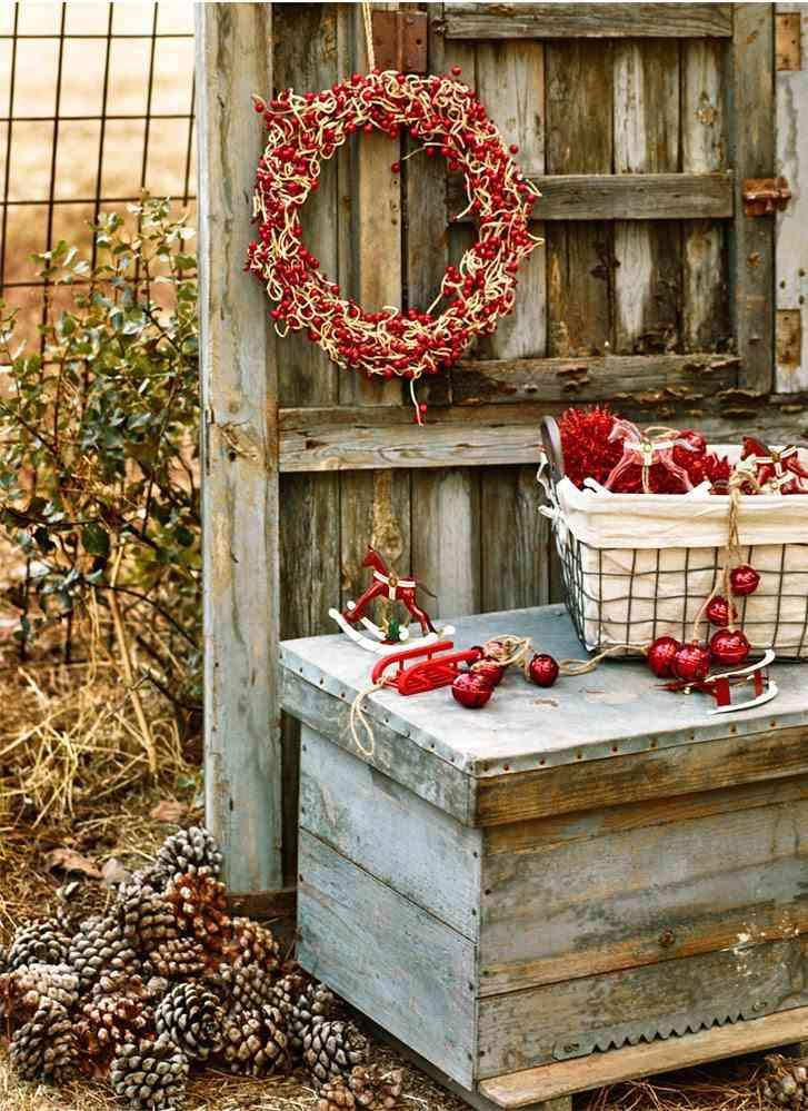 decorar el exterior corona bayas zara home