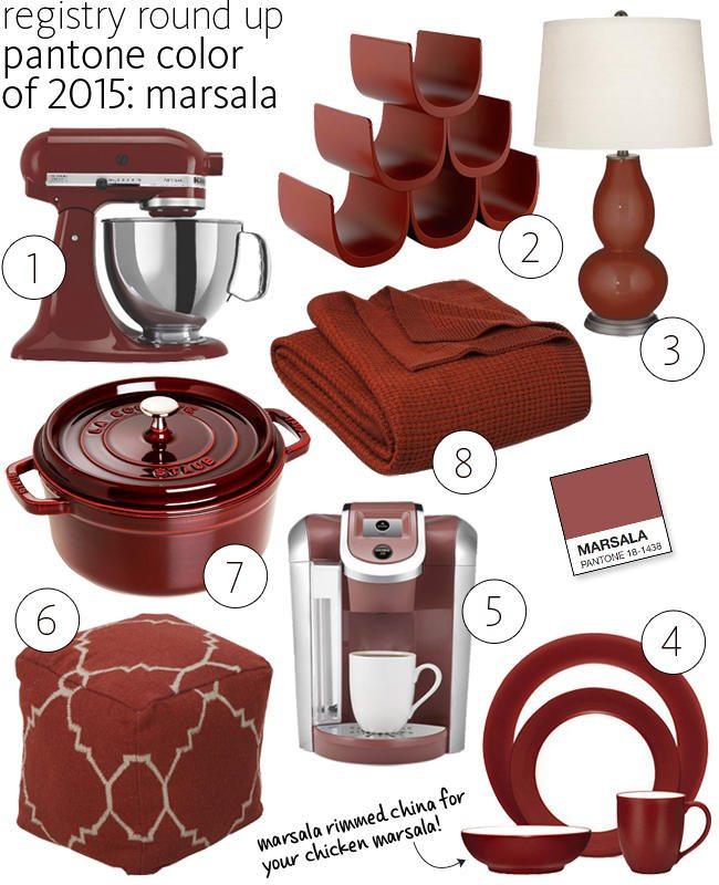 utensilios de cocina en color Marsala