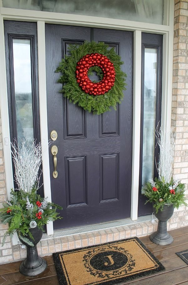 C mo decorar puertas de navidad para que pap noel no for Como decorar una puerta en navidad