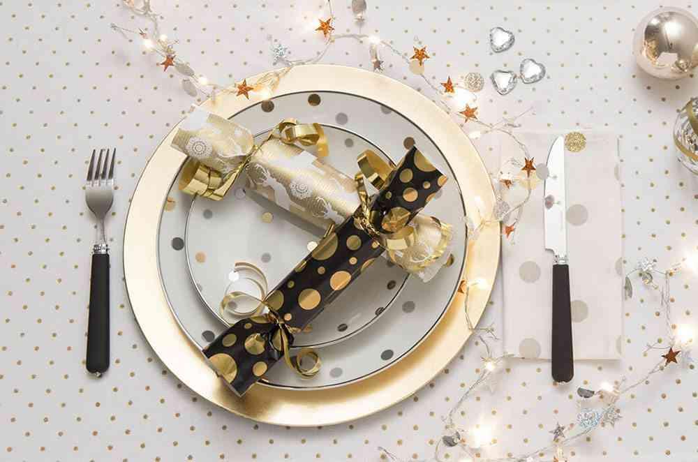 detalles de navidad plato