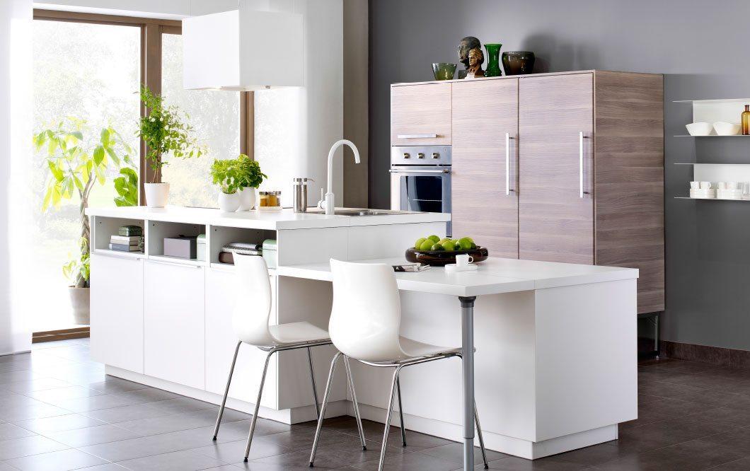 cocina de color blanca