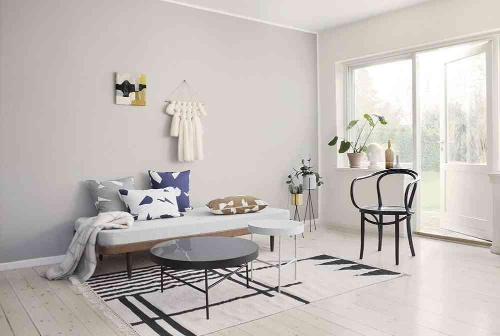 elegir las alfombras ferm blanco y negro